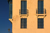 yellow stock photography | Tunisia, Sidi Bou Said, Building with balconies, image id 3-1100-67