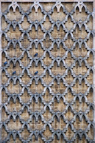 image 3-1100-88 Tunisia, Tunis, Decorated facade with bluebirds