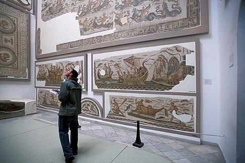 image 3-1100-89 Tunisia, Tunis, Bardo Museum, Mosaic