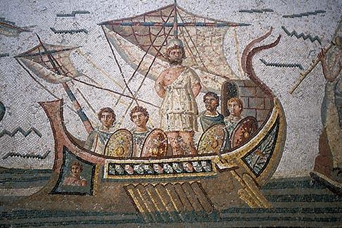 image 3-1100-92 Tunisia, Tunis, Bardo Museum, Roman mosaic