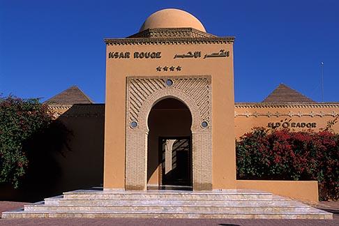 image 3-1100-97 Tunisia, Tozeur, Hotel entrance