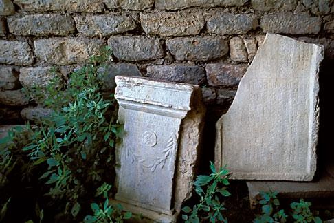 image 9-300-43 Turkey, Ephesus, Greek inscriptions on marble