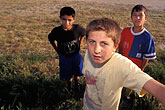 three boys stock photography | Turkey, Sel�uk, Young soccer players, image id 9-310-69