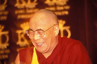 9-340-38  stock photo of Israel, Jerusalem, Dalai Lama, Interreligious Friendship Group, June 1999