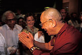 one person stock photography | Israel, Jerusalem, Dalai Lama greeting guests, image id 9-340-57