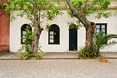 horizontal stock photography | Uruguay, Colonia del Sacramento, White facade of historic building in old town, image id 8-802-4308