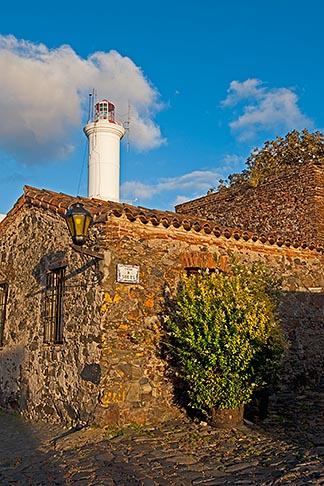 image 8-802-4570 Uruguay, Colonia del Sacramento, Stone buildings and Colonia lighthouse