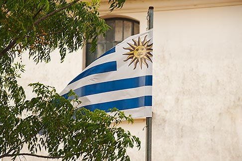 image 8-803-4942 Uruguay, Colonia del Sacramento, Flag of Uruguay
