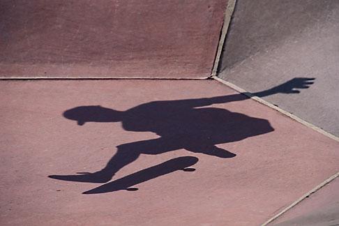image 6-235-8 Skateboarder shadow