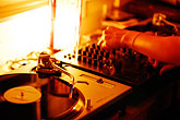 listen stock photography | California, Berkeley, Turntables, image id S4-360-2103