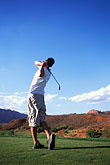 tee shot stock photography | Utah, St. George, Entrada at Snow Canyon Golf Course, image id 3-861-80