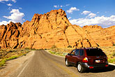 driving in the red hills stock photography | Utah, St. George, Driving in the Red Hills, image id 3-862-50
