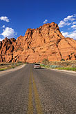 snow stock photography | Utah, St. George, Driving in the Red Hills, image id 3-862-60