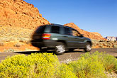 car stock photography | Utah, Hurricane, Driving in the Red Hills, image id 3-862-80