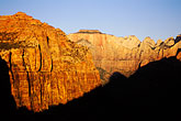 rugged stock photography | Utah, Zion National Park, West Temple from Canyon Overlook, image id 3-870-2