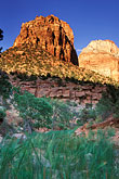 nobody stock photography | Utah, Zion National Park, Mount Spry and East Temple, image id 3-870-71