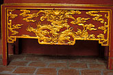 gold stock photography | Vietnam, Hanoi, Decorated Table, Tran Quoc Pagoda, image id S3-194-14