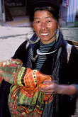 folk art stock photography | Vietnam, Sapa, Hill Tribe Vendor, image id S3-194-3