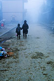 two boys stock photography | Vietnam, Sapa, Walking in fog, image id S3-194-33
