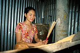 one person stock photography | Vietnam, Mekong Delta, Making Incense, image id S3-196-4