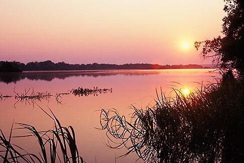 image 7-394-43 Zimbabwe, Zambezi National Park, Sunset, Zambezi River