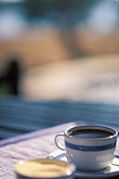 porcelain stock photography | Zimbabwe, Zambezi National Park, Matetsi Water Lodge, coffee by the pool, image id 7-408-6