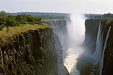 horizontal stock photography | Zambia, Victoria Falls, Victoria Falls from the east, image id 7-409-15
