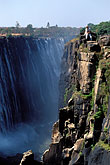 water stock photography | Zimbabwe, Victoria Falls, Danger Point and Rainbow Falls, image id 7-410-25